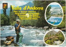 Valls D'Andorra -  PECHEUR SPORTIF De TRUITES / PESCASPORTIVO / ANGLER / SPORTVISSER / HENGELAAR  - (1971, Andorre) - Andorra