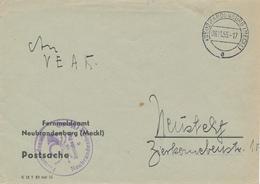 NEUBRANDENBURG - 1955 , Postsache Nach Neustrelitz - [6] République Démocratique