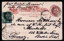 A5357) Queensland Uprated Postcard Brisbane 09/16/92 To Berlin / Germany - 1860-1909 Queensland