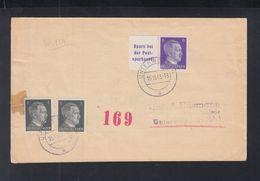 Dt. Reich  Streifband 1943  ZD - Briefe U. Dokumente