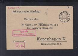 Kriegsgefangenensendung Döbeln 1916 Nach Kopenhagen - Briefe U. Dokumente