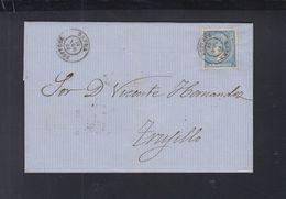 Spain Cover 1866 Zafra To Trujillo - 1850-68 Königreich: Isabella II.