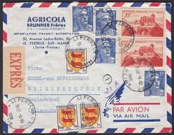 Frankreich - France Express Umschlag 1951 Nach Gelsenkirchen  (20224 - Francia