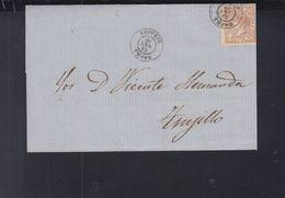 Spain Cover 1868 Zafra To Trujillo - 1850-68 Königreich: Isabella II.