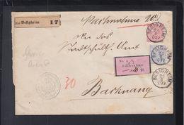Württemberg Nachnahme Brief 1882 Besigheim - Wuerttemberg