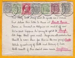 1911 - Enveloppe De Verviers, Belgique Vers Slough, Grande-Bretagne - Adresse En Forme De Poème !!! - Cachet D' Arrivée - Sin Clasificación