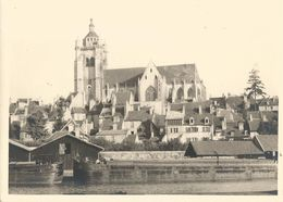 Grande Photo - Dole- Péniche - Canal - Eglise -Jura - 39 - Boats
