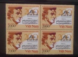Block 4 Of Vietnam Viet Nam MNH Perf Withdrawn Stamps 2010 : 200th Birth Anniversary Of Chopin / Music (Ms989) - Vietnam