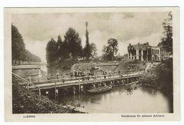 Lierre Holzbrücke Artillerie - Lier