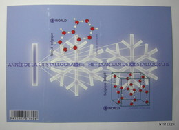 BELGIUM: Cristallographie - Kristallografie Sheet, 2 Stamps For Use For Rest Of The World Value 3 - Blocks & Sheetlets 1962-....