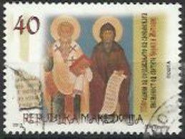 MK 2013-661 CIRIL AND METHODIE, MAKEDOIA, 1 X 1v, Used - Mazedonien
