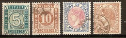 CIFRAS E ISABEL 1867.  SERIE COMPLETA USADA. MUY BONITA. 84 € - Usati
