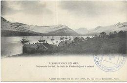 ISLANDE. CREPUSCULE BOREAL. LA BAIE DE FASKRUDSFIORD. L ASSISTANCE EN MER. CACHEE - Iceland