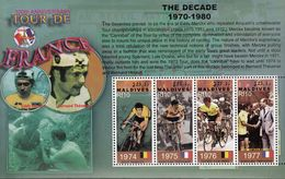 Maldives. 2003. Sport. Cycling.100 Jr.Tour De France. Michel. 4149-52.  MNH.25549 - Francobolli