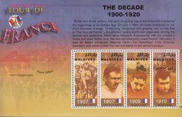 Maldives. 2003. Sport. Cycling.100 Jr.Tour De France. Michel. 4153-56.  MNH.25550 - Francobolli