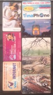 Lot Of 8 Used Vietnam Viet Nam Chip Phonecard Card Cards : Landscape / Art / 2 Photo With Backside - Vietnam