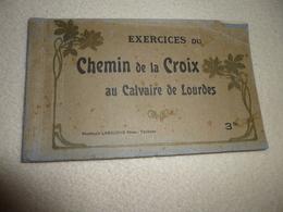 CARNET DE 14 CARTES (sur ?)... EXERCICES DU CHEMIN DE LA CROIX AU CALVAIRE DE LOURDES - Lourdes