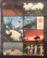 Lot Of 08 Vietnam Viet Nam Magnetic Phonecard Card Cards : Fish / Art Photo / 2 Photo - Vietnam