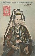 PIE-R-18-1312 : JEUNE FEMME DE BETHLEEM. JUNGE FRAU AUS BETHLEHEM - Palestine