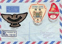 SIERRA LEONE - AIR MAIL LETTER 1968 FREETOWN -> OSNABRÜCK/GERMANY - Sierra Leone (1961-...)