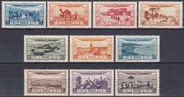 Marokko Morocco 1928 Hochwasserhilfe Fantasia Vögel Birds Safi Städte Fes Casablanca Marrakesch Tanger, Mi. 77-86 ** - Ungebraucht
