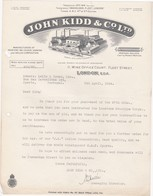 ENGLAND - LONDON  - COMMERCIAL DOCUMENT -  JOHN KIDD & Cº. Ltd. - MANUFACTURERS OF PRINTERS   - 1924 - United Kingdom