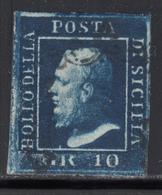 1859 Sassone Nº 12 , Michel Nº 5 - Sicile