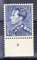 BELGIQUE COB 847A **, MNH, NUMERO PLANCHE 2   (7B288) - 1936-51 Poortman