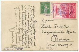 1777 - Flug Vorläufer SITTEN Mit ABART Auf Ansichtskarte - Poste Aérienne
