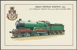Great Central Railway Director' Class 4-4-0 Express Passenger Engine - Colourmaster Postcard - Trains