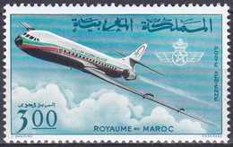Marokko Morocco 1966 Verkehrswesen Transport Luftfahrt Aviation Flugzeuge Aeroplanes Planes Jet, Mi. 576 ** - Marokko (1956-...)