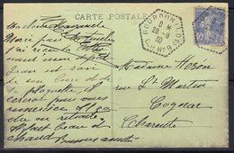 Gourdon C.P. N°9 (Lot) : Poste Automobile Rurale, Càd Type G4 Sur Carte Postale, 1930, Frappe TTB. - Marcophilie (Lettres)