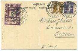 1778 - Flug Vorläufer LANGNAU Auf Offizieller Flugpostkarte Nach LUZERN - Luftpost