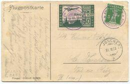 1779 - Flug Vorläufer BURGDORF Auf Offizieller Flugpostkarte Nach LA JONCHERS - Poste Aérienne