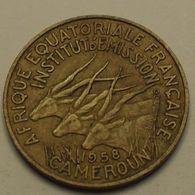 1958 - Cameroun, Afrique Equatoriale Française - French Equatorial Africa - Cameroon - 10 FRANCS, KM 11 - Cameroon