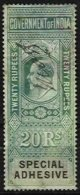 INDIA REVENUES,  Special Adhesive, Used, F/VF - 1902-11 King Edward VII