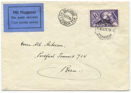 1780 - 10 Cts. ROHRPOST ZÜRICH Stempel Auf Flugbrief Nach BERN 1931 - Télégraphe
