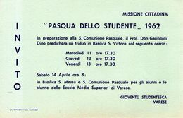 B 1756 -  Varese Pasqua Gioventù Studentesca - Programmi
