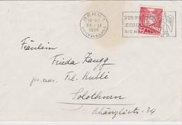 SUISSE 1938 LETTRE DE BERNE OBLITERATION COURSE DE SKI ENGELBERG - Lettres & Documents