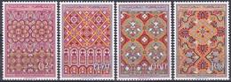 Marokko Morocco 1968 Kunsthandwerk Weberei Jacquard Trachten Gürtel Schärpen Kleidung Damast Fes, Mi. 624-7 ** - Marokko (1956-...)