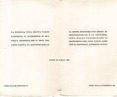 B 1758 -  Partecipazione Di Nozze, Torino 1946 - Annunci Di Nozze