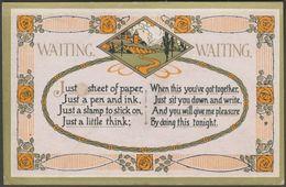 Art Nouveau - Waiting, Waiting, C.1910 - Regent Publishing Co Postcard - Other