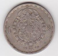 1 Krone Schweden Sehr Schön Bis Vorzüglich (1942) Silber - Schweden