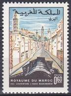 Marokko Morocco 1970 Infrastruktur Kanal Stadt Städte Architektur Bauwerke Buildings Straßen Boukhrareb, Mi. 666 ** - Marokko (1956-...)