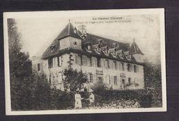 CPA 15 - CHABUS - Château De Chabus , Près LOUPIAC-ST-CHRISTOPHE TB PLAN EDIFICE + Jolie ANIMATION Devant - Autres Communes