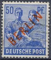 GERMANY BERLIN 1949  RED OVERPRINT 50PF USED - Berlin (West)