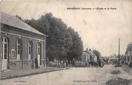 80-ABANCOURT- L'ECOLE ET LA PLACE - France