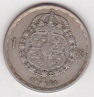 1 Krone Münze Aus Schweden (vorzüglich) 1944 Silber - Schweden