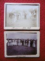 BEAUVOISIN CAMARGUE GARDIANS MANADE FETE 1907 SIGNE FLOUTIER 9.5 X 7 - Places