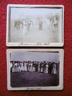 BEAUVOISIN CAMARGUE GARDIANS MANADE FETE 1907 SIGNE FLOUTIER 9.5 X 7 - Lieux